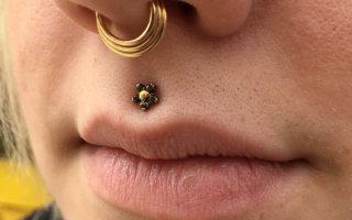 Как происходит процедура прокола верхней губы для пирсинга Медуза