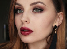 Винные оттенки помады: правила использования в макияже