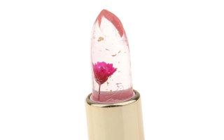 Особенности прозрачных помад с цветком внутри