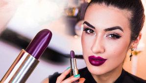 Как использовать сливовую помаду в дневном и вечернем макияже