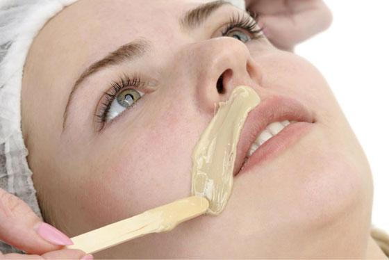 Удаление волос над губой