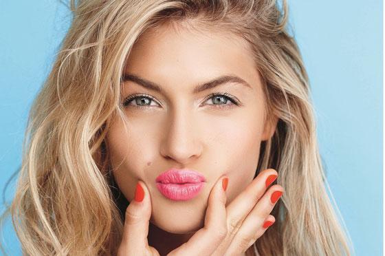 макияж с розовой помадой