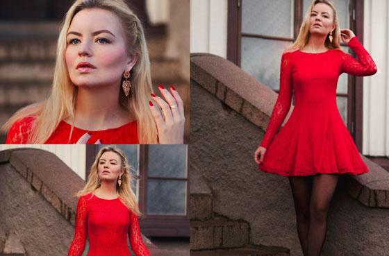 макияж под красный наряд