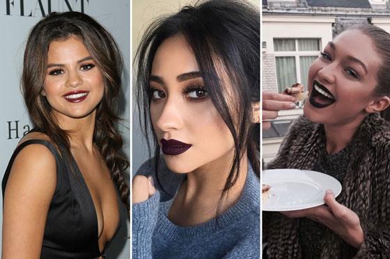 Девушки с темными губами