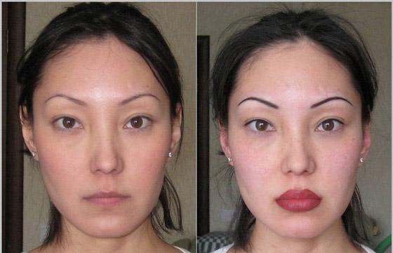 губы до и после татуажа